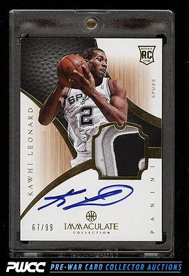 2012 Immaculate Collection Kawhi Leonard ROOKIE RC AUTO PATCH 99 112 PWCC