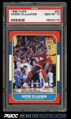 1986 Fleer Basketball SETBREAK Hakeem Olajuwon ROOKIE RC 82 PSA 10 GEM PWCC