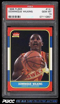 1986 Fleer Basketball SETBREAK Dominique Wilkins ROOKIE RC 121 PSA 10 PWCC