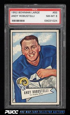1952 Bowman Large Andy Robustelli ROOKIE RC 85 PSA 8 NMMT PWCC