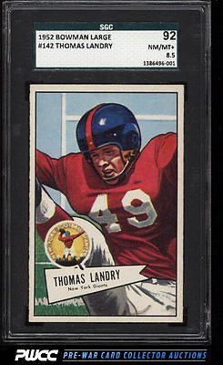 1952 Bowman Large Tom Landry 142 SGC 8592 NMMT PWCC