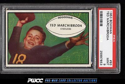 1953 Bowman Football Ted Marchibroda ROOKIE RC 93 PSA 9 MINT PWCC