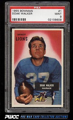 1955 Bowman Football Doak Walker 1 PSA 9 MINT PWCC
