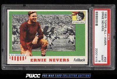 1955 Topps AllAmerican Ernie Nevers ROOKIE RC 56 PSA 9 MINT PWCC