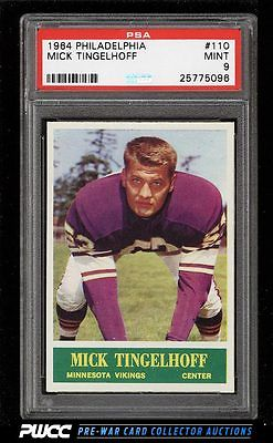 1964 Philadelphia Mick Tingelhoff ROOKIE RC 110 PSA 9 MINT PWCC