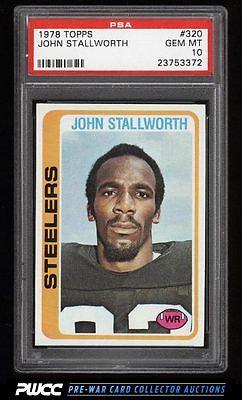 1978 Topps Football John Stallworth ROOKIE RC 320 PSA 10 GEM MINT PWCC