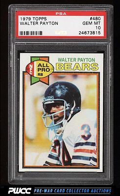 1979 Topps Football Walter Payton ROOKIE RC 480 PSA 10 GEM MINT PWCC