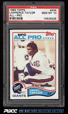 1982 Topps Football Lawrence Taylor ROOKIE RC 434 PSA 10 GEM MINT PWCC