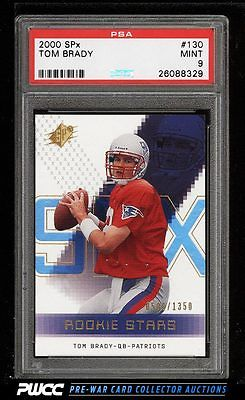 2000 SPx Football Tom Brady ROOKIE RC 1350 130 PSA 9 MINT PWCC