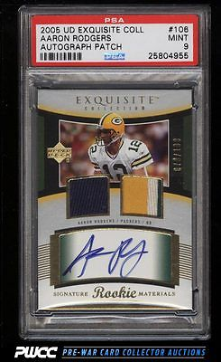 2005 Exquisite Collection Aaron Rodgers ROOKIE AUTO PATCH 199 106 PSA 9 PWCC