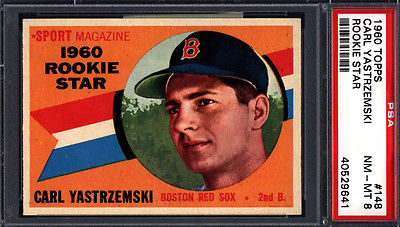 1960 Topps PSA 8 Set Break 148 Carl Yastrzemski Rookie HOF PSA 8 Well Centered