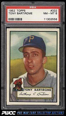 1952 Topps SETBREAK Tony Bartirome 332 PSA 8 NMMT PWCC