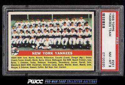 1956 Topps SETBREAK Yankees Team 251 PSA 8 NMMT PWCC