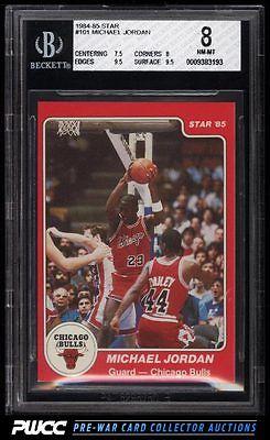 198485 Star Basketball Michael Jordan ROOKIE RC 101 BGS 8 NMMT PWCC