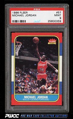 1986 Fleer Basketball Michael Jordan ROOKIE RC 57 PSA 9 MINT PWCC
