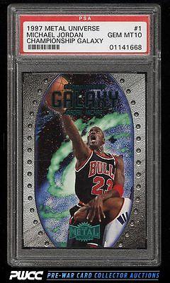 1997 Metal Universe Championship Galaxy Michael Jordan 1 PSA 10 GEM MINT PWCC