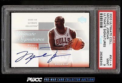 2003 Ultimate Collection Michael Jordan AUTO MJA PSA 9 MINT PWCC