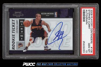 2009 Playoff Contenders Stephen Curry ROOKIE AUTO 106 PSA 10 GEM MINT PWCC