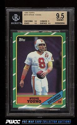 1986 Topps Football Steve Young ROOKIE RC 374 BGS 95 GEM MINT PWCC