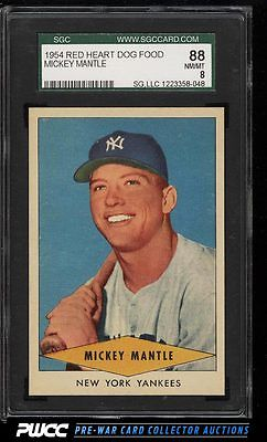 1954 Red Heart Mickey Mantle SGC 888 NMMT PWCC