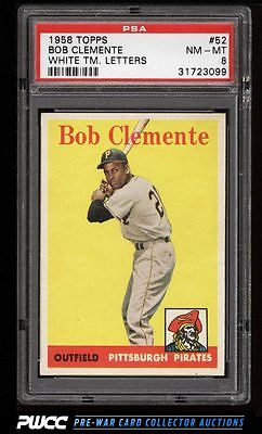 1958 Topps Roberto Clemente 52 PSA 8 NMMT PWCC