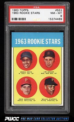 1963 Topps Willie Stargell ROOKIE RC 553 PSA 8 NMMT PWCC