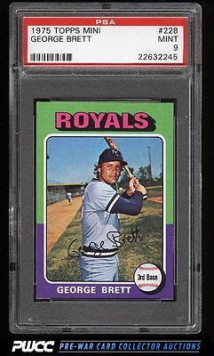 1975 Topps Mini George Brett ROOKIE RC 228 PSA 9 MINT PWCC