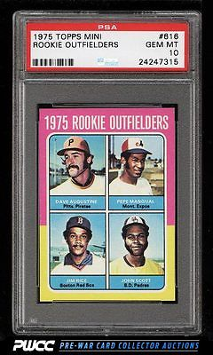1975 Topps Mini Jim Rice ROOKIE RC 616 PSA 10 GEM MINT PWCC