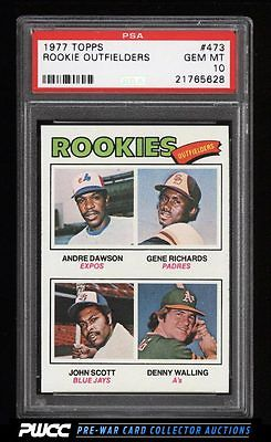 1977 Topps Andre Dawson ROOKIE RC 473 PSA 10 GEM MINT PWCC