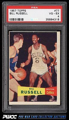 1957 Topps Basketball Bill Russell SP ROOKIE RC 77 PSA 4 VGEX PWCC