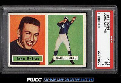 1957 Topps Football Johnny Unitas ROOKIE RC 138 PSA 7 NRMT PWCC