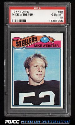 1977 Topps Football Mike Webster ROOKIE RC 99 PSA 10 GEM MINT PWCC