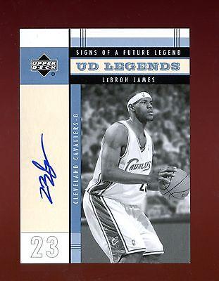 Lebron James 200304 Upper Deck UD Legends Signs of Future Rookie Autograph Auto