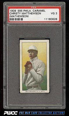 1909 E95 Philadelphia Caramel Christy Mathewson PSA 3 VG PWCC