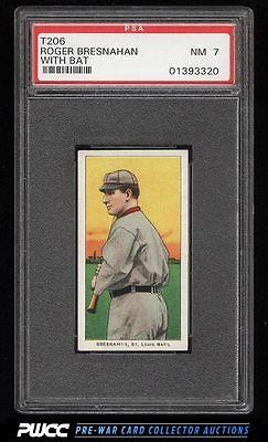 190911 T206 Roger Bresnahan WITH BAT PSA 7 NRMT PWCC