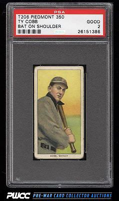 190911 T206 Ty Cobb BAT ON SHOULDER PSA 2 GD PWCC