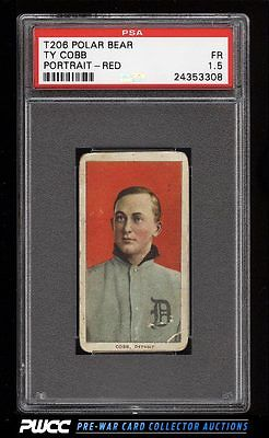 190911 T206 Ty Cobb RED PORTRAIT POLAR BEAR PSA 15 FR PWCC