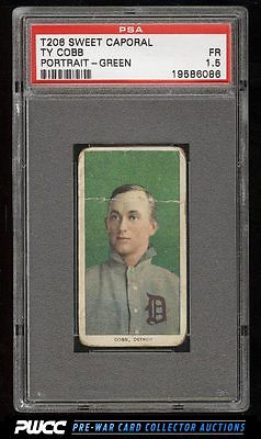 190911 T206 Ty Cobb GREEN PORTRAIT PSA 15 FR PWCC