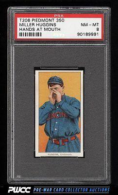 190911 T206 Miller Huggins HANDS AT MOUTH PSA 8 NMMT PWCC