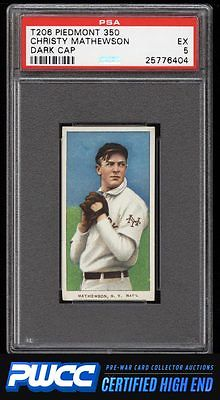 190911 T206 Christy Mathewson DARK CAP PSA 5 EX PWCCHE