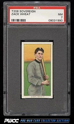 190911 T206 Zack Wheat SOVEREIGN 460 PSA 7 NRMT PWCC