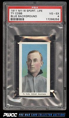 1911 M116 Sporting Life Ty Cobb BLUE BACKGROUND PSA 4 VGEX PWCC
