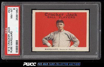 1915 Cracker Jack Rube Marquard 43 PSA 8 NMMT PWCC
