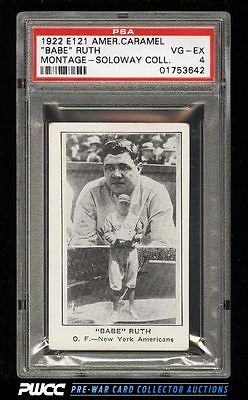 1922 E121 American Caramel Series Of 120 Babe Ruth MONTAGE PSA 4 VGEX PWCC