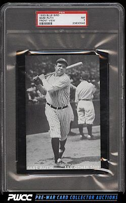 1933 Blue Bird Babe Ruth FRONT VIEW PSA 7 NRMT PWCC