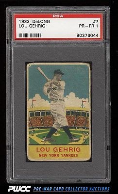 1933 DeLong Lou Gehrig 7 PSA 1 PR PWCC