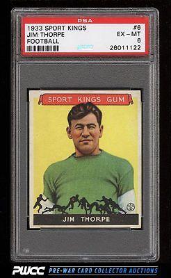 1933 Goudey Sport Kings Jim Thorpe FOOTBALL 6 PSA 6 EXMT PWCC