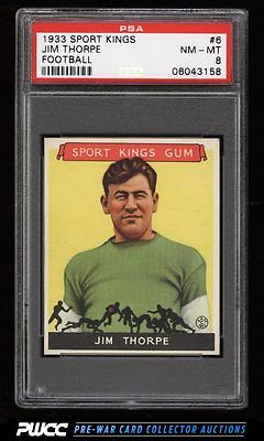 1933 Goudey Sport Kings Jim Thorpe FOOTBALL 6 PSA 8 NMMT PWCC