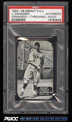 1933 Zeenut Pacific Coast League Joe DiMaggio ROOKIE RC PSA AUTH PWCC