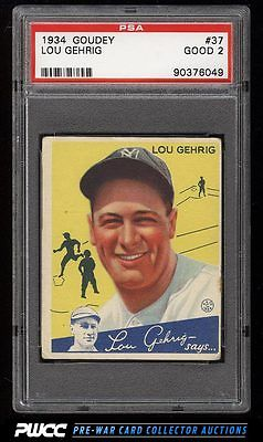 1934 Goudey Lou Gehrig YELLOW 37 PSA 2 GD PWCC